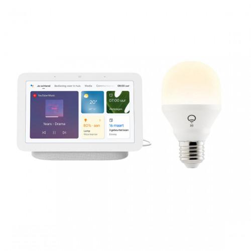 Google Nest Hub + LIFX Mini White