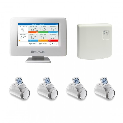 Honeywell Home evohome Console + HR92 Radiatorthermostaat 4-pack