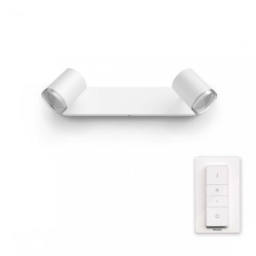 Philips Hue Adore 2-lichts Badkamerspotlamp