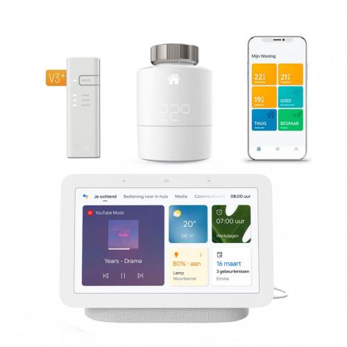 tado° Slimme Radiatorknop Starter Kit V3+ + Google Nest Hub (Gen. 2)