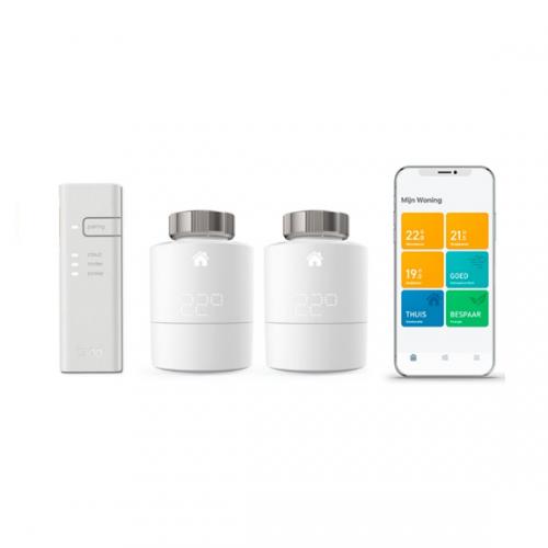 tado° Slimme Thermostaat - Starterskit V3 met 2 thermostaten & Bridge met app