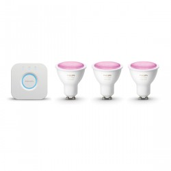 Philips Hue White and Color GU10 Bluetooth Starter Kit - 3 Lampen + Bridge