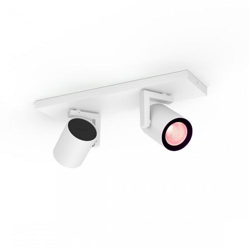 Philips Hue White & Color Ambiance Argenta Bluetooth 2-lichts Spotbalk