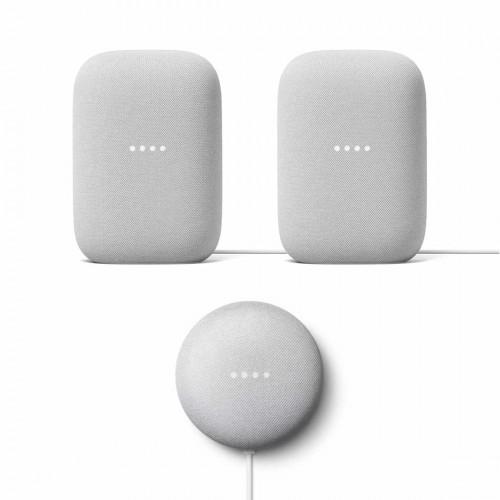 Google Nest Audio 2-pack + Google Nest Mini