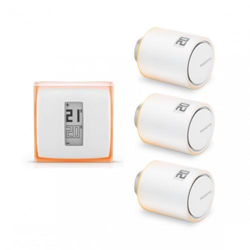 Netatmo Thermostaat + Radiatorkraan 3-pack
