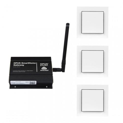 OPUS Gateway + OPUS BRiDGE 1 Kanaal Schakelaar 3-pack