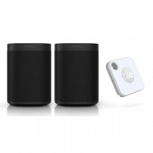 Sonos One SL Stereo Set + Tile Mate+