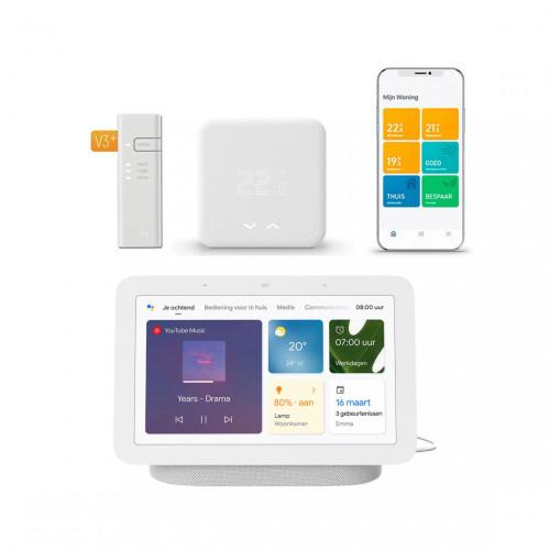 tado° Slimme Bedrade Thermostaat Starter Kit V3+ + Google Nest Hub (Gen. 2)