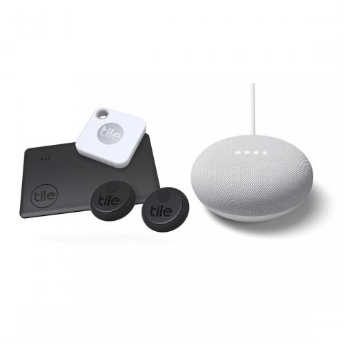 Tile Essentials (2020) 4-pack + Google Nest Mini