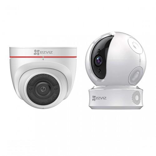 EZVIZ C4W Outdoor Camera + C6C Pan-Tilt Camera