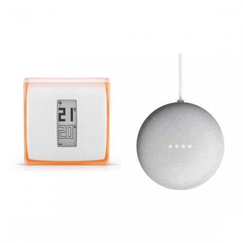 Netatmo Slimme Thermostaat + Google Nest Mini