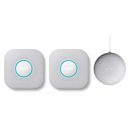 Google Nest Protect 2-pack + Google Nest Mini