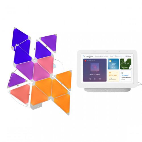 Nanoleaf Light Panels Smarter Kit 15-pack + Google Nest Hub (Gen. 2)