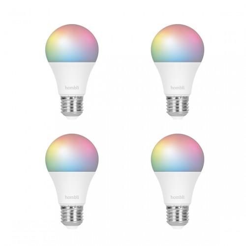 Hombli Smart Bulb E27 RGB + CCT 4-pack
