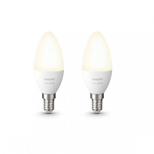Philips Hue White E14 Bluetooth Ledlampen 2-pack