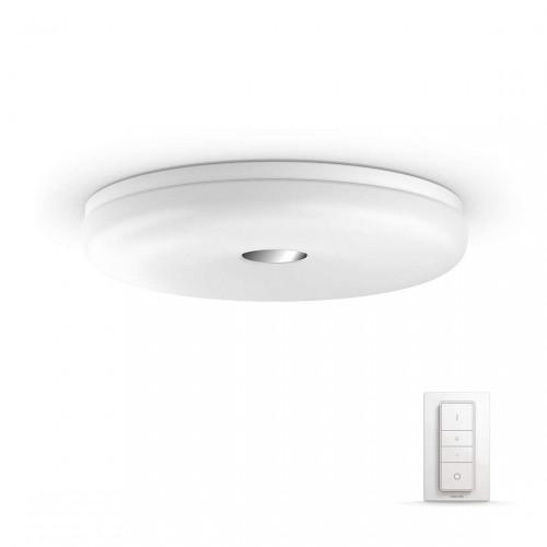 Philips Hue White Ambiance Struana - Bluetooth LED-Deckenleuchte mit Dimmschalter