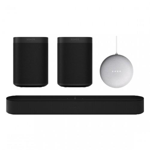 Sonos One Beam 5.0 Entertainment Set + Google Nest Mini