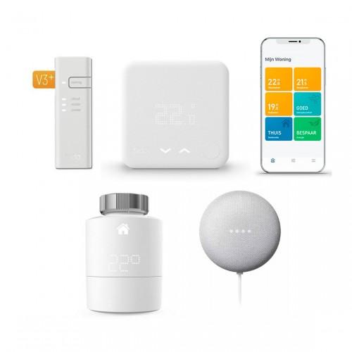 tado° Slimme Thermostaat Starter Kit V3+ + Radiatorknop + Google Nest Mini