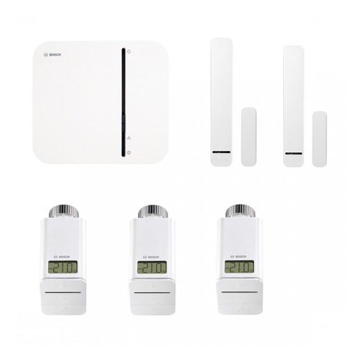 Bosch Smart Home Controller + 3x Radiatorknop + Deur-/Raamcontact 2-pack