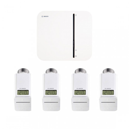 Bosch Smart Home Controller + 4x Radiatorknop