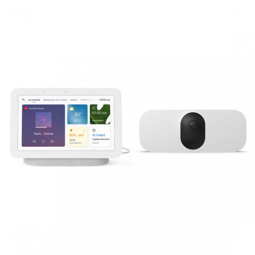 Arlo Pro 3 Floodlight Camera + Google Nest Hub (Gen. 2)