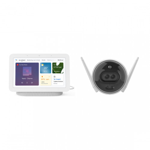 Google Nest Hub (Gen. 2) + EZVIZ C3X Bewakingscamera