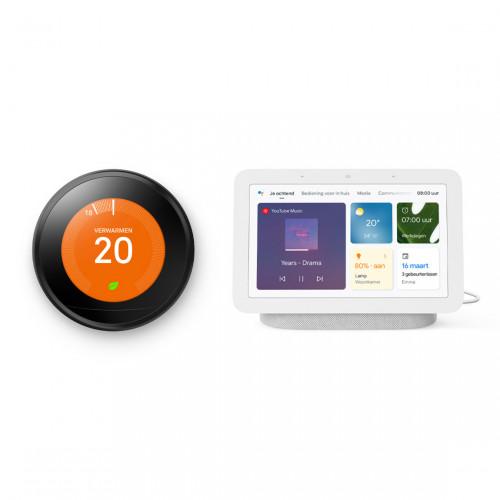 Google Nest Learning Thermostat (Gen. 3) + Google Nest Hub (Gen. 2)