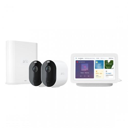 Arlo Pro 3 VMS4240P Set met 2 Camera's + Google Nest Hub