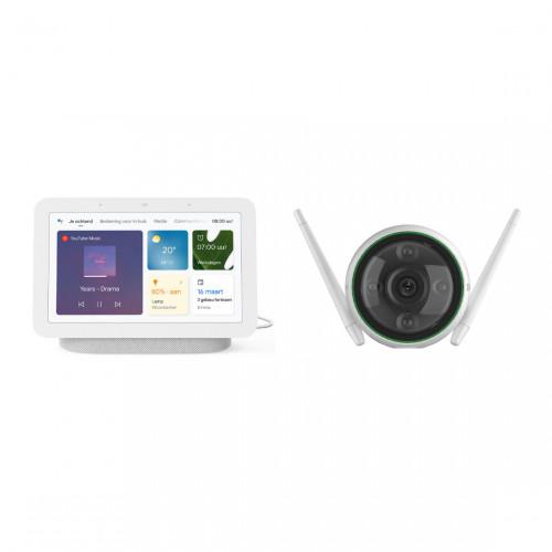 Google Nest Hub (Gen. 2) + EZVIZ C3N Slimme Outdoor Camera