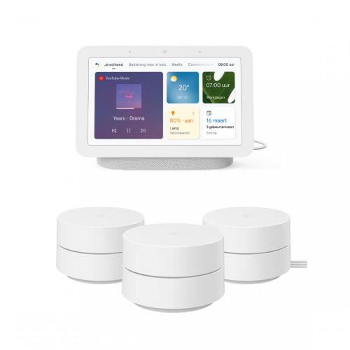 Google Wifi 3-pack + Google Nest Hub (Gen. 2)