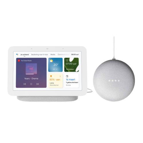 Google Nest Hub (Gen. 2) + Google Nest Mini