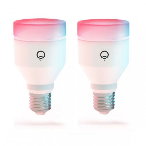 LIFX E27 Dimbare Wifi Lamp A60 Color 2-pack