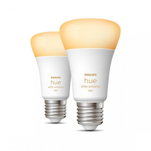 Philips Hue White Ambiance E27 Bluetooth Bulbs 2-pack
