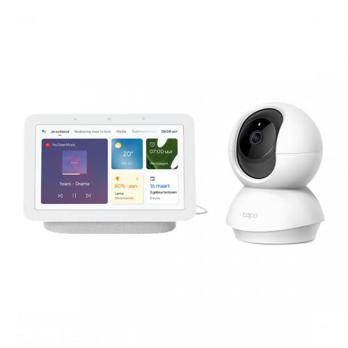 Google Nest Hub (Gen. 2) + TP Link Tapo C200 - Pan/Tilt Home Security Wifi Camera